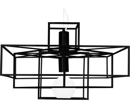 Suspension métal noir Cube
