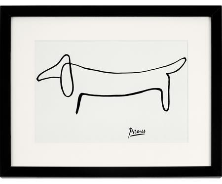 Impresión digital enmarcada Dog From Pablo Picasso