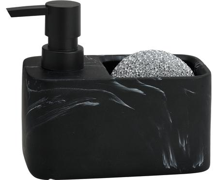 Dozownik do mydła z gąbką Galia, 2 elem.