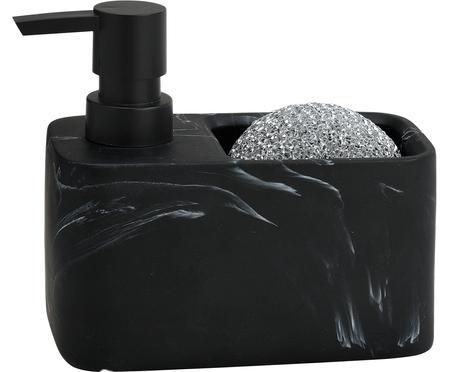Set dispenser sapone effetto marmo Galia 2 pz