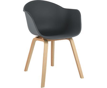 Krzesło z tworzywa sztucznego z podłokietnikami Claire