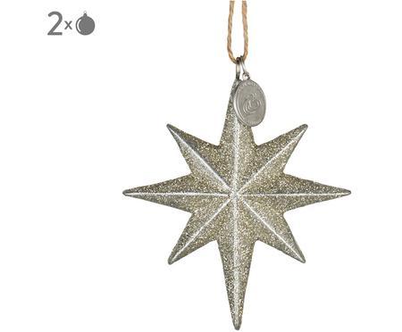 Baumanhänger Serafina Star, 2 Stück