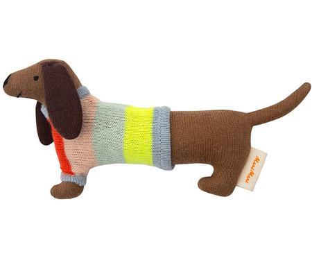 Sonajero de algodón ecológico Sausage Dog