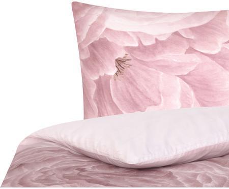 Baumwollperkal-Bettwäsche Rosario mit Aquarell Blumen-Print