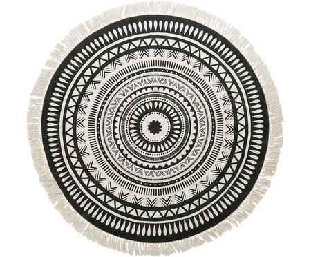 Runder Teppich Benji, mit Fransen, handgewebt
