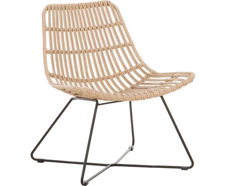 Fotel ze splotu z tworzywa sztucznego Sola