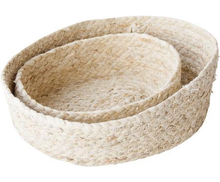 Set 2 cestini per il pane fatti a mano Mais
