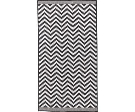 In- & Outdoor-Teppich Palma mit Zickzack-Muster, beidseitig verwendbar