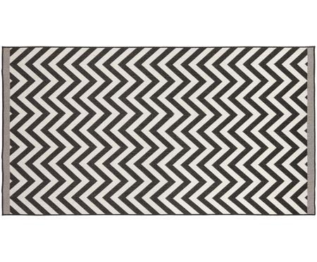 Dubbelzijdig in- & outdoor vloerkleed Palma, met zigzag patroon