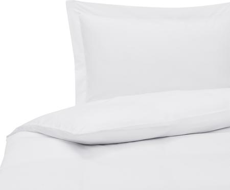 Parure copripiumino in raso di cotone bianco Premium