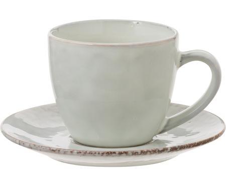 Handgemachte Tasse mit Untertasse Nordic Sand