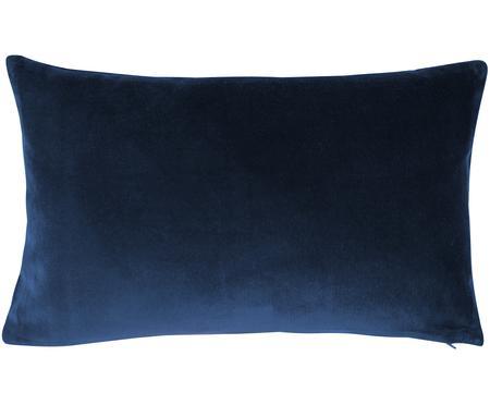 Housse de coussin en velours bleu marine Alyson