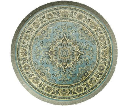 Kulatý koberec ve vintage stylu s třásněmi Bodega