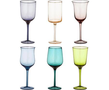 Mundgeblasene Weingläser Desigual in Bunt, 6er-Set