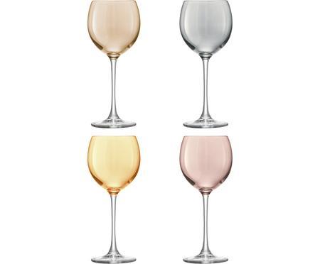 Ręcznie malowany kieliszek do wina Polka, 4 elem.
