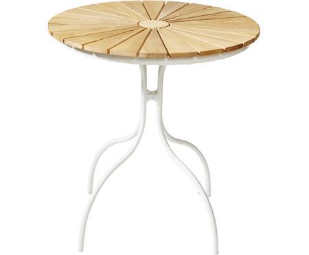 Okrągły stół ogrodowy z blatem z drewna tekowego Hard & Ellen