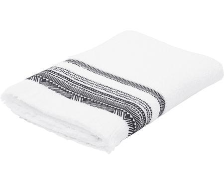 Asciugamano con bordo ricamato Brina
