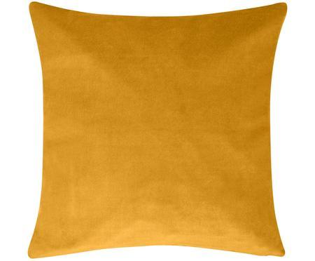 Federa arredo in velluto in giallo ocra Alyson