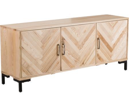 Sideboard Leif mit Türen aus massivem Eschenholz