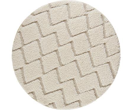 Runder In- & Outdoor-Teppich Dades mit Hoch-Tief-Effekt