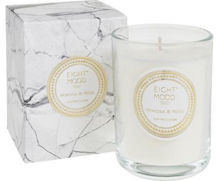 Bougie parfumée White Marble (mimosa et rose)