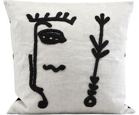 Kissenhülle Ingo mit abstrakter Stickerei