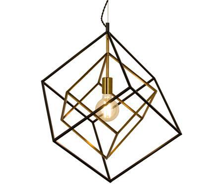Pendelleuchte Cubes in Schwarz-Gold