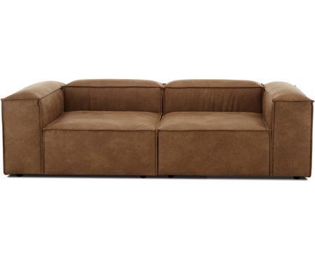 Modulares Sofa Lennon (3-Sitzer) in Braun aus recyceltem Leder