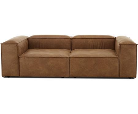 Canapé modulable 3 places cuir Lennon