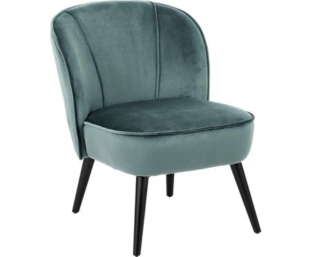 Fauteuil cocktail en velours Lucky