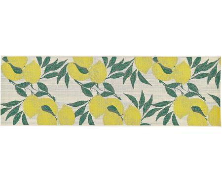 Tapis de couloir intérieur-extérieur imprimé citron Limonia