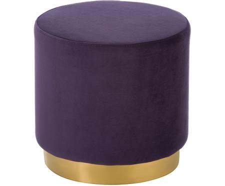 Pouf in velluto Orchid
