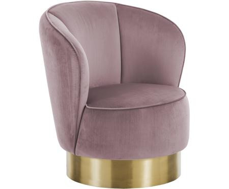 Fotel z aksamitu Olivia