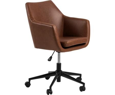 Biurowe krzesło obrotowe ze sztucznej skóry Nora