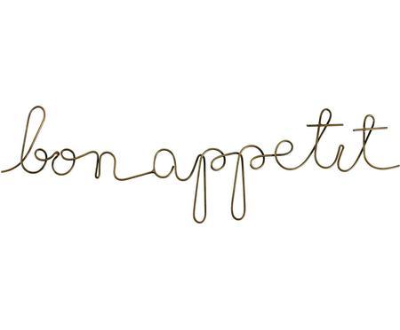 Wandobjekt Bon Appetit aus beschichtetem Stahl