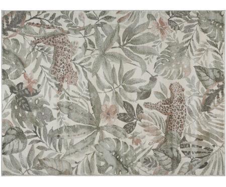 Teppich Sambre mit tropischem Print