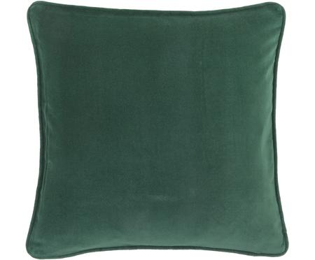 Federa arredo in velluto in verde smeraldo Dana