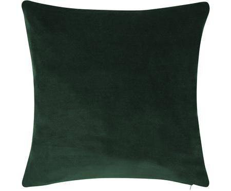 Federa arredo in velluto in verde smeraldo Alyson