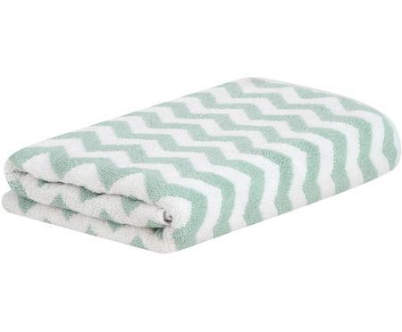 Asciugamano con motivo a zigzag Liv