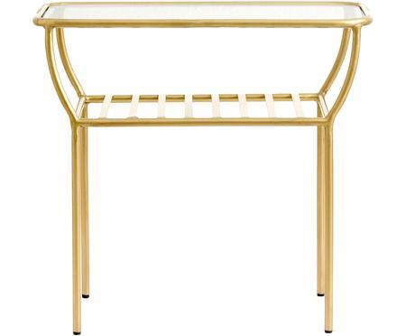 Tavolino con piano in vetro Maeve
