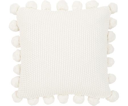 Federa arredo fatta a maglia con pompon Molly