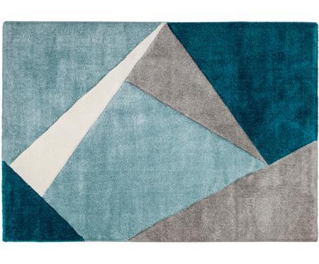 Vloerkleed My Broadway met geometrisch patroon in beige-blauw