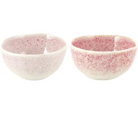 Handgemachte Schälchen Amalia mit effektvoller Glasur, 2 Stück