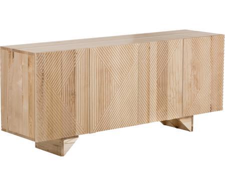 Sideboard Louis mit Türen aus massivem Eschenholz
