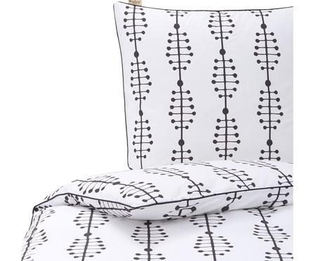 Baumwoll-Bettwäsche Lines and Dashes mit grafischem Muster
