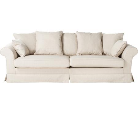 Hussen-Sofa Nobis in Creme