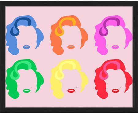 Gerahmter Digitaldruck Marilyn Pop Art