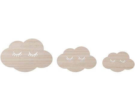 Komplet dekoracji ściennych Clouds, 3 elem.