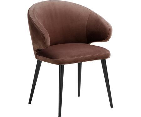 Zamatová stolička s opierkami v modernom dizajne Celia