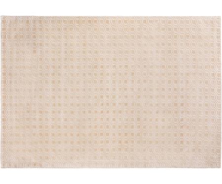 Handgewebter Viskoseteppich Nelson, flauschig glänzend